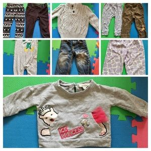 12-18 month girl fall clothes lot